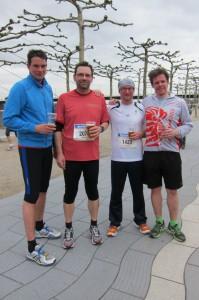 Thorsten, ich, Andreas und Marco nach dem Lauf
