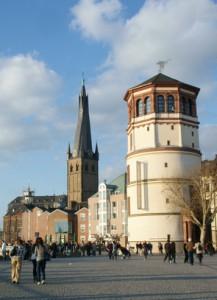 burgplatz düsseldorf kirche schifffahrtsmuseum foto